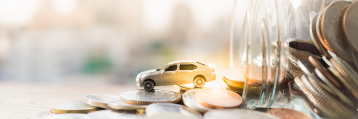 toy car on coins